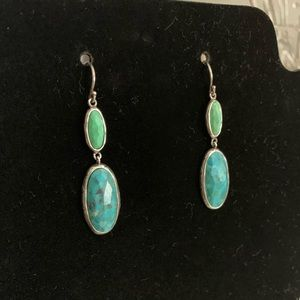 Silpada Turquoise and Green Stone Earrings